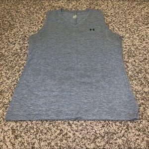Under Armour Women's Gray Sleeveless Shirt Large